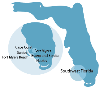 Southwest Florida Homes For Sale by Community - Map Illustration