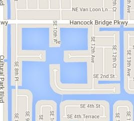 Shamrock Lake in Cape Coral - Map Image