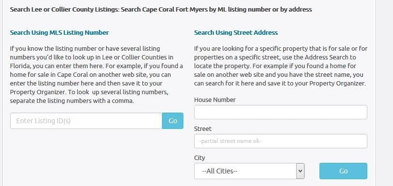 Cape Coral Homes for Sale Address Search