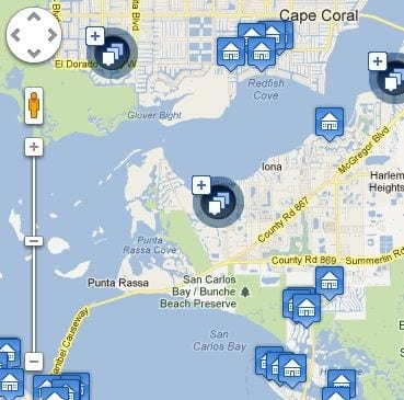 Coral Bay Florida Map.Search Cape Coral Real Estate Fort Myers Real Estate With Map