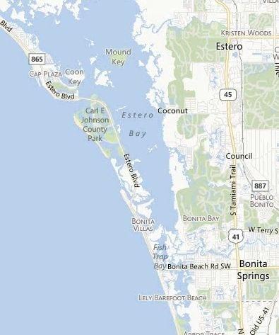 Southwest Florida Map.Estero Bonita Map Southwest Florida Dave Sage And Brenda Boss