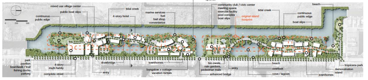 cape coral seven islands concept diagram