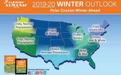 The Farmers' Almanac is predicting a miserable winter 2020